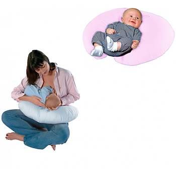 Sema Bebe Emzirme ve Bebek Destek Minderi - Pembe Fiyonk