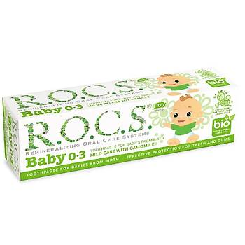 Rocs Baby Papatya Özlü Diþ Macunu (0-3Yaþ)