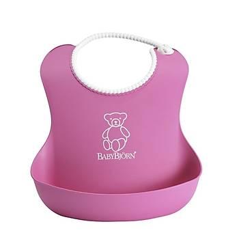 BabyBjörn Yumuþak Plastik Mama Önlüðü / Pink