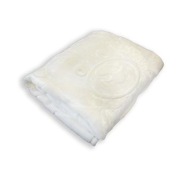 MiniGold Yenidoðan Peluþ Battaniye - Ayýcýk Beyaz