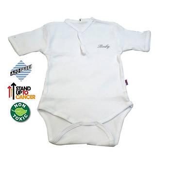 Sema Baby Yarým Kol Kaþkorse Badi (Body) - Beyaz 0-6 Ay