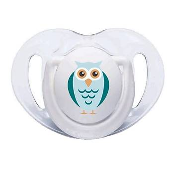 Mamajoo Silikon Ortodontik Ýkili Emzik Beyaz Baykuþ / 12 ay +