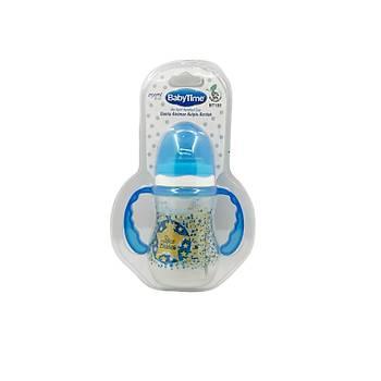 Baby Time Damla Akýtmaz Kulplu Bardak 250ml - Mavi