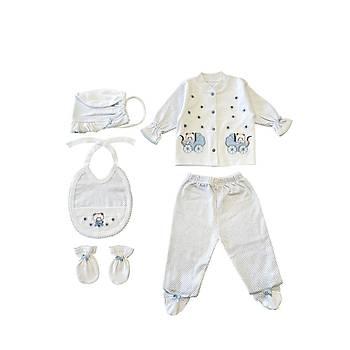 Sema Bebe 5'li Set - Açýk Mavi