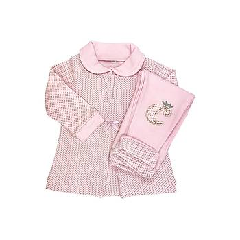 Sema Baby Puantiyeli Elbise 2'li Takým 12 Ay - Pembe