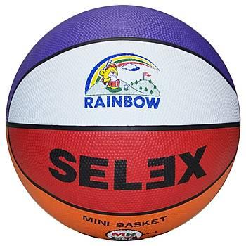 Basketbol Topu Selex Rainbow 5 No
