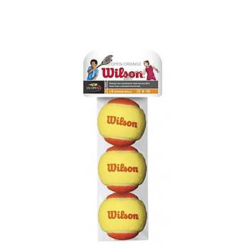 Tenis Topu Wilson Starter Orange 3'lü