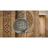 Kuvars Köstekli Cep Saati Silver Antika Kolye Dört Yaprak Desenli