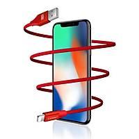 Earldom EC-015 Apple Telefonu Ýçin 2.1A Hýzlý Þarj ve Data Kablosu Kýrmýzý Örgü Ýpli