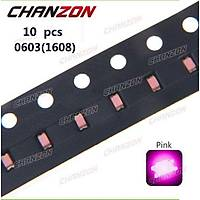 PEMBE LED SMD 0603 DÝYOT CHIP 70-90mcd