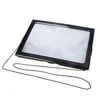 A4 Tam Sayfa PVC 3X Büyüteç LED Iþýklý Katlanabilir Okuma Büyüteç