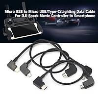 DJI Mavic 2 Pro DJI Mavic Pro 3 x Kumanda dan Telefona Veri Kablosu IOS/Micro/Tip-C