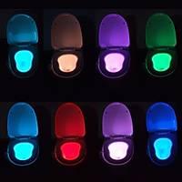 Klozet Gece Iþýk 8 Renk Sensörlü LED Banyo Lambasý