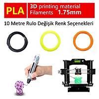 3D Yazýcý PLA Filament 10 Metre Rulo 1.75mm 3D Yazýcý 3D Kalem Ýçin