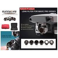 DJI Mavic Pro Platinum Kamera Ýçin Kýzaklý Optik Lens 6 lý Filtre Set MCUV + CPL + ND4-8-16-ND32