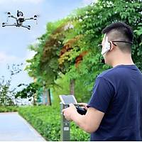 DJI Spark UAV 1 Km Mesafeli Megafon Kafa Mikrofon USB Þarjlý
