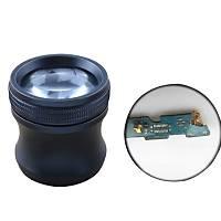 20X Kuyumcu Göz Büyüteç Alüminyum Kasa Cam Lens 20x40 Taký Elmas