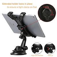 Araç Cam Vakumlu Tablet Telefon Tutucu 360° Oynar Kafa 7-10 inç