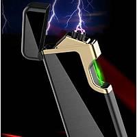 Çift Ark Plazma Turbo Elektrikli Çakmak USB Þarjlý Yeþil Lacer Sensör Ateþleme