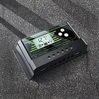 30A PWM Solar Akü Þarj Regülatörü 12V-24V LCD Ekran Çift USB 5V