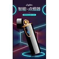 Tesla Bobin Alevsiz Çakmak Parmak Ýzi Dokunmatik Sensör USB Þarjlý