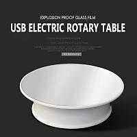 Dönen Stand 2 Yönlü 360° 20cm Beyaz 1.5 kg Yük Güç USB Adaptörlü