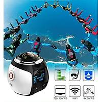4K 360° VR Wifi Ultra HD 3D Panoramik Spor Kamera 30m Su Geçirmez Podofo