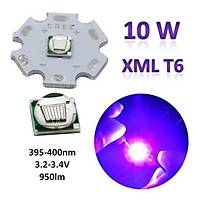 10w Uv Xml T6 Boncuk Sedefli Power Led 395-400nm 20mm Pcb 3.2-3.4V 950Lm