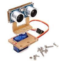 Arduino Ultrasonik Sensör Modülü HC-SR04 + Montaj Braketi + Mini 9g 1.6 KG Servo