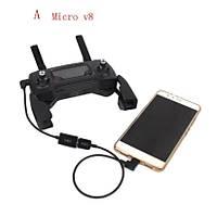 DJI SPARK Kumanda Uzatma Kablosu Mikro Telefon Tablet