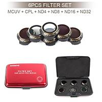 Dji Mavic Pro Kamera Ýçin Kýzaklý Optik Lens 6 lý Filtre Set MCUV + CPL + ND4-8-16-ND32
