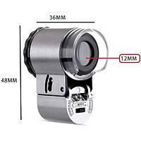 50X LED Beyaz UV Iþýklý Mini Mikroskop Taký Mücevher Deðerleme Büyüteç 9882A
