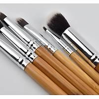 6 Boy Bambu Saplý Makyaj Fýrça Seti Göz Fýrçasý Göz Farý Fýrçasý Kozmetik