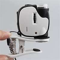 55X Büyüteç Telefon Klipsli Optik Makro Lens Büyüteç 2 LED 1 UV LED ORCA