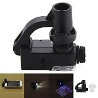 90X Makro Lens Büyüteç Optik Zoom Mikroskop Telefon Klipsli UV LED Iþýklý