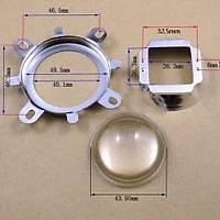 20W-120W Led Ýçin 44mm 60° Optik Cam Lens + Reflektör + Kasa