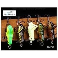 PROFISHER 5 Renk Set 1 Kanca Sahte Yem 3 gr 4 cm Grasshopper