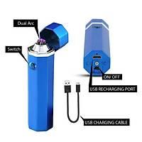 Darbeli Çift Ark Elektronik Plazma Çakmak USB Elaktrik Þarjlý Rüzgar Geçirmez