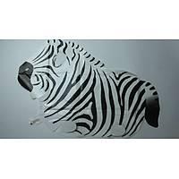 Folyo Balon Zebra Parti Süsleme DoðumgünüOyuncak