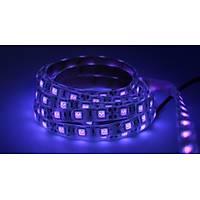 UV Þerit LED 5050 SMD 60/m Su Geçirmez 1mt 12V