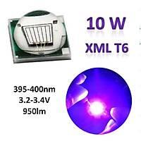 10w Uv Xml T6 Boncuk Sedefli Power Led 395-400nm 3.2-3.4V 950Lm