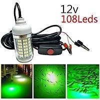 Sualtý LED Iþýk Gece Balýkçýlýk 12-24 100 W 108 LED ON/OFF 5 MT