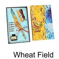 Van Gogh Wheat Field Divit Kalem Mum Mühür Kaligrafi Seti