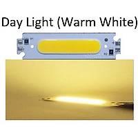 COB LED Çip Günýþýðý (Warm White) 12V 2W 6015 PCB Bord DIY Iþýk Kaynaðý