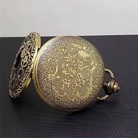 Klasik Kuvars Köstekli Cep Saati Bronz Antika Kolye Zincirli Diþli Çark Desenli