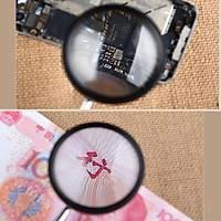 30x 40mm Metal Kasa Optik Cam Lens El Büyüteç Kolay Kavrama Saplý