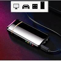 Çift Ark Plazma Alevsiz Elektronik Çakmak ve El Feneri USB Þarjlý Anti Rüzgar