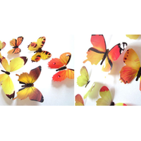 Ev Dekorasyon 3D PVC Kelebek 12 li Duvar Süsleme Model H2