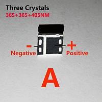 2W UV 365nm+365nm+405nm Üç Kristalli SMD 5050 Kürleme LED Diyot
