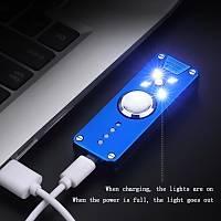 Plazma Çift Ark Çakmak Stres Çarký Þeklinde USB Þarjlý Elektronik Üstten Kapak